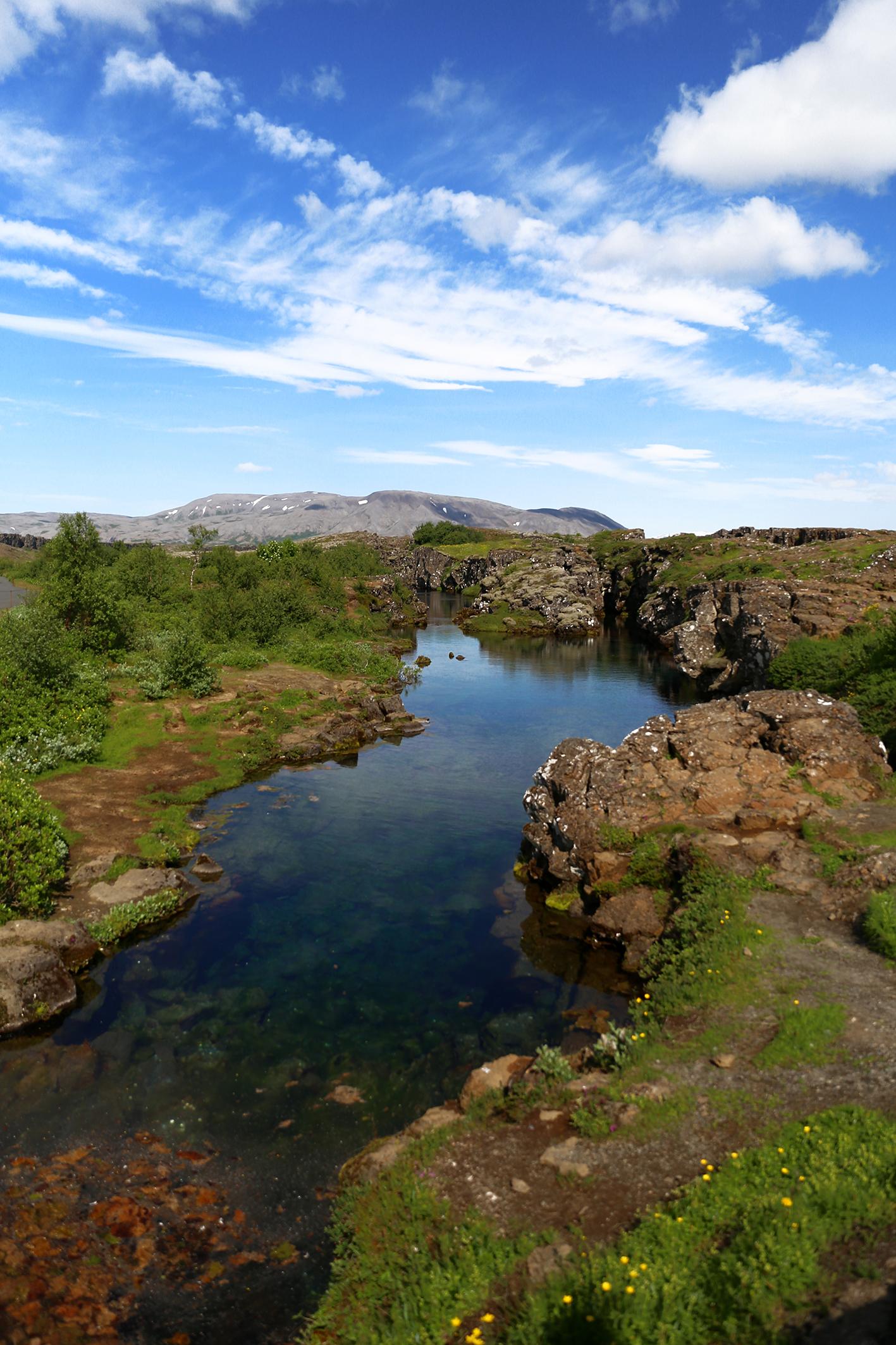 Erdplatten im Þingvellir Nationalpark ©Katrin Brunk