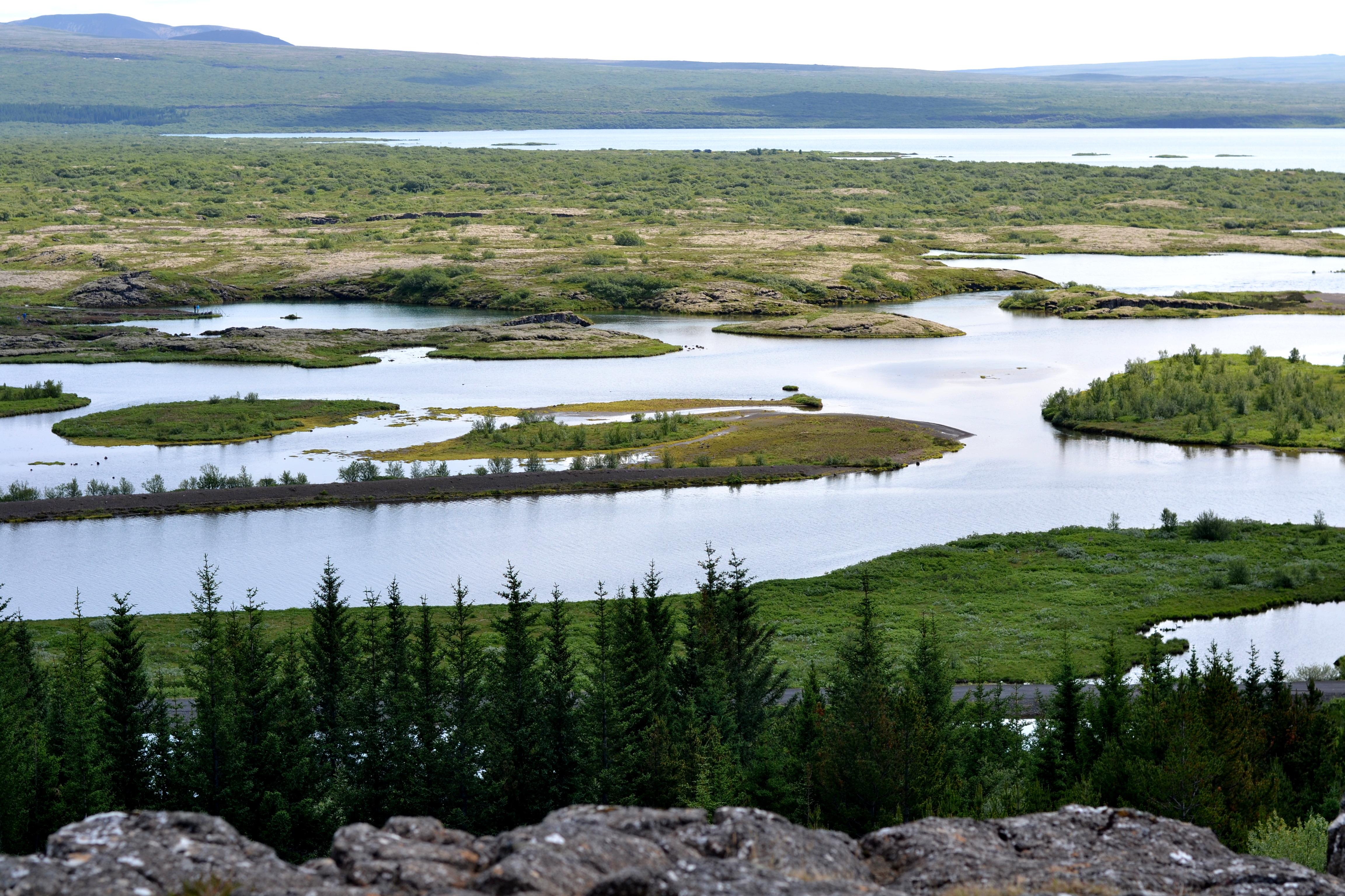 Reisefoto Island: Ausblick auf Seen ©Imke Haverbusch