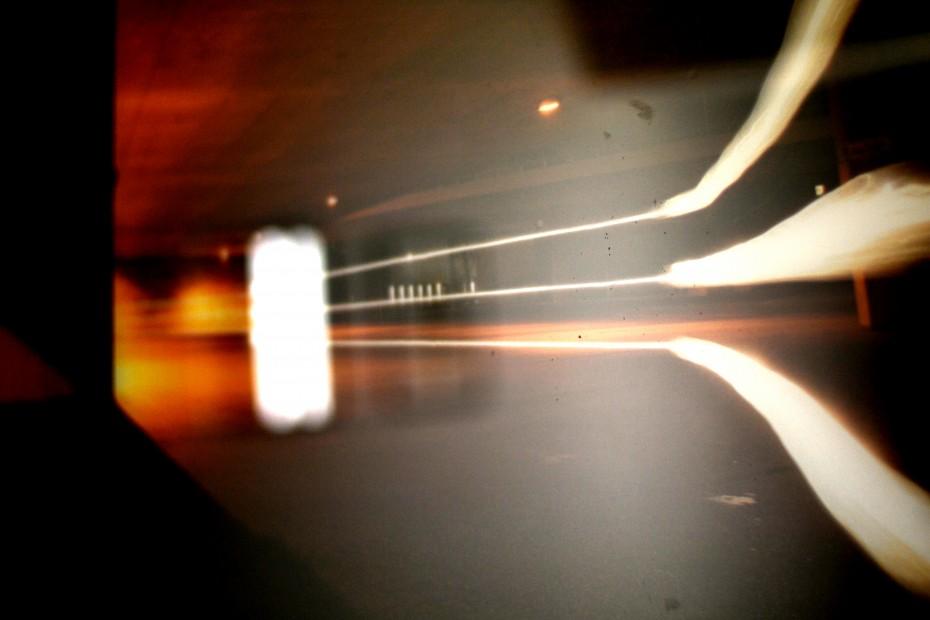 Lichtprojektion Glasdruck