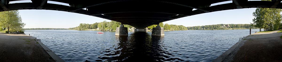 Panoramafotografie: Glienicker Brücke in Potsdam  ©Bernd Kröger