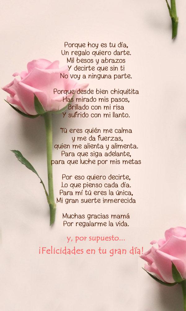 poema para el día de la madre