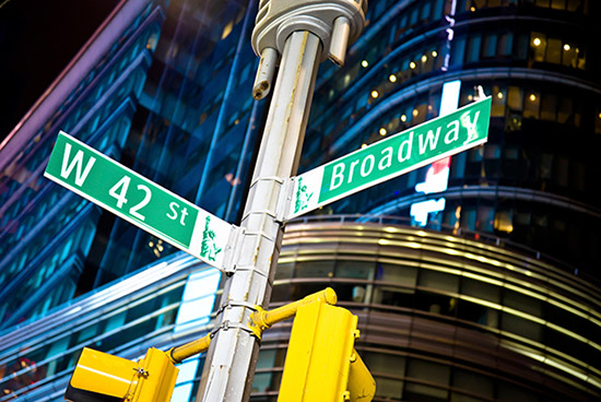 Ecke Broadway und 42nd Street
