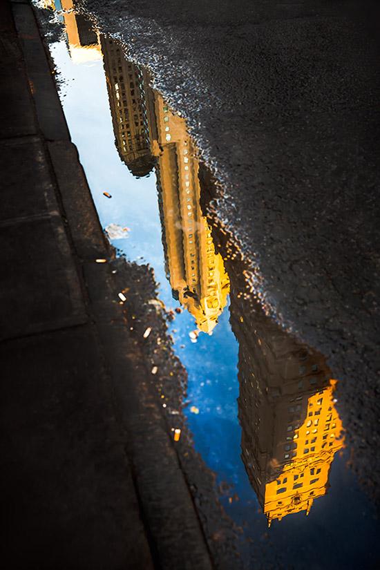 Ästhestische Spiegelung von Wolkenkratzern