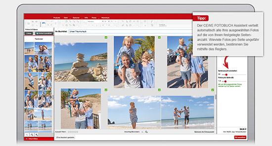Unsere neuer CEWE FOTOBUCH erstellt in wenigen Klicks einen fertigen Vorschlag