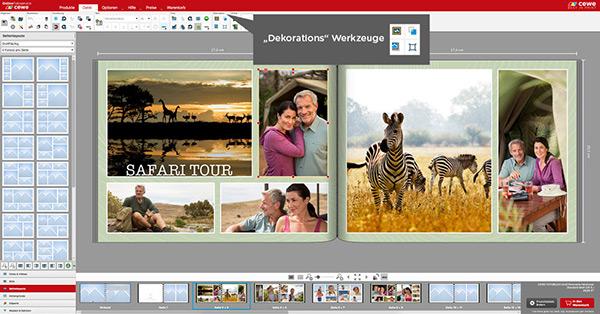 Um Fotos mehr Wirkung zu verleihen, gibt man dieses Fotos Raum zum wirken