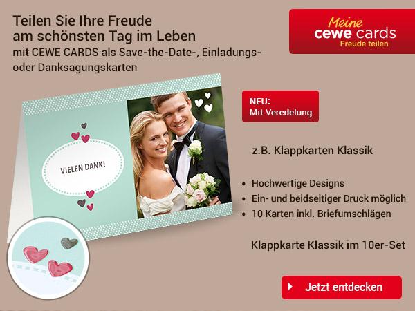 CEWE CARDS als Save the Date, Einladungs, Danksagungskarten