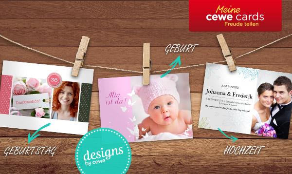 mein CEWE CARDS Freude teilen: Geburstag, Geburt, Hochzeit