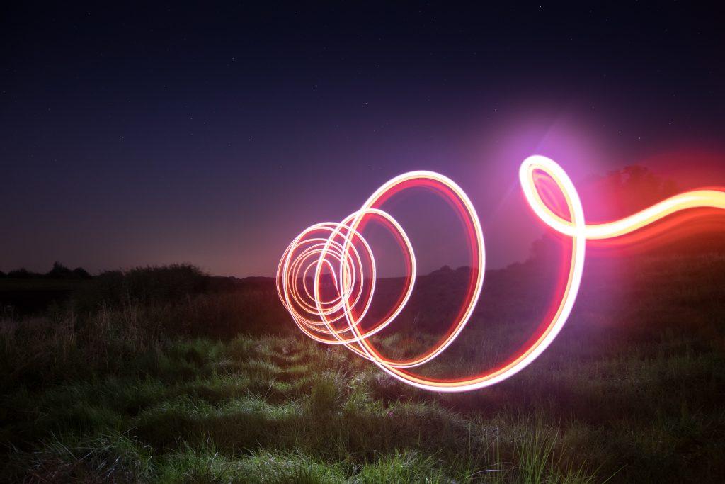 Lightpainting mit einer Taschenlampe