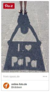 Schattenbild mit I LOVE MAMA