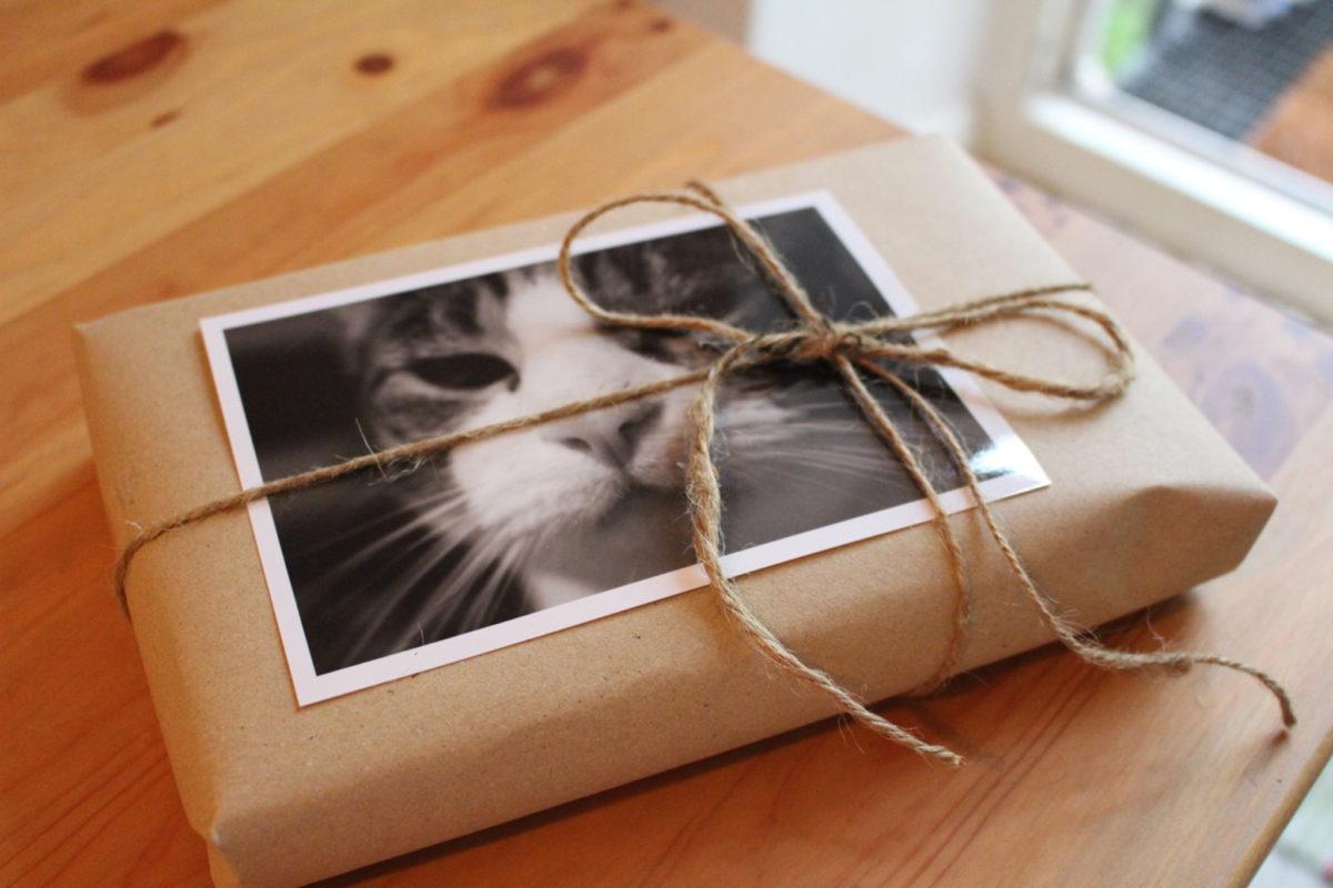 Mit scharzweiß Fotos Geschenke verschönern