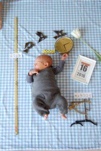 Bild einer selbstgestalteten Babykarte
