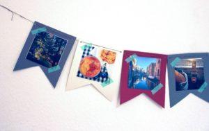 Bild einer Wimpelkette mit Fotos