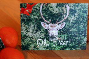 Bild einer selbstgestalteten Weihnachtskarte