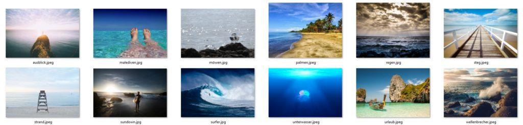 Vorschaubild des Bildpakets Meer