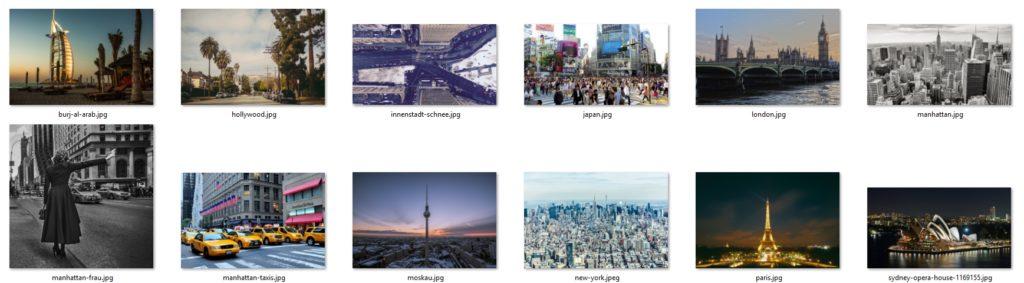 Vorschaubild des Bildpakets Metropolen