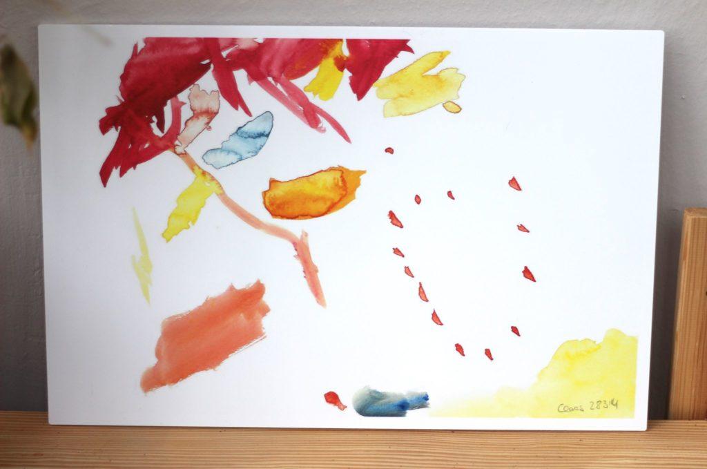 Kreatives Kinderbild als Wandbild