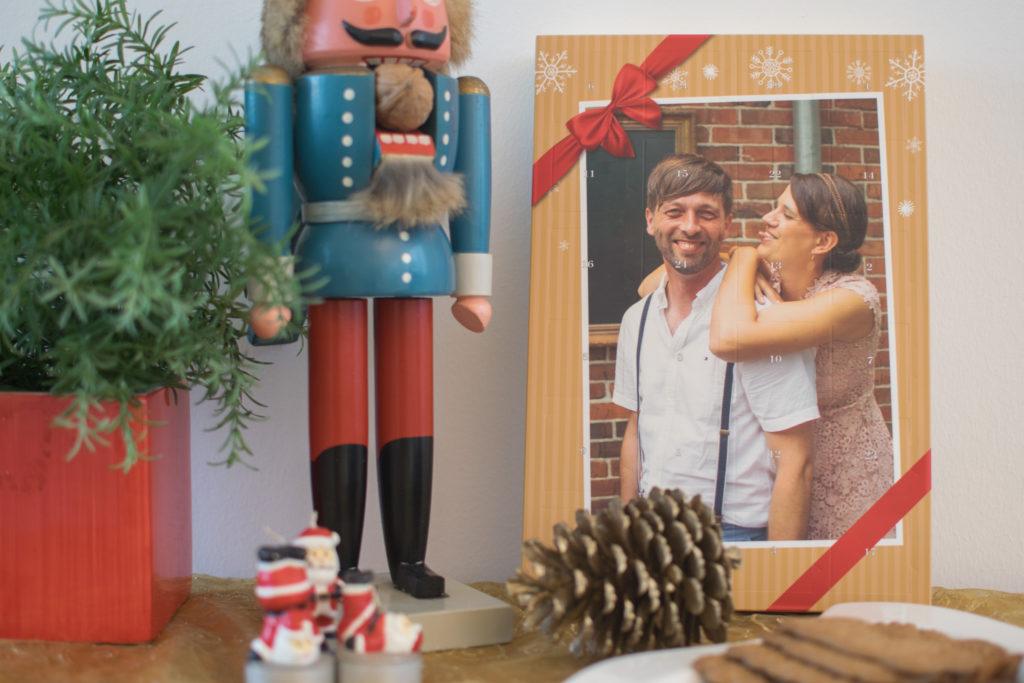 Bild von einem Ferrero Adventskalender mit eigenem Bild gestaltet