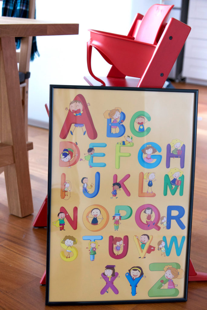 Poster mit Alhabet für Kinder
