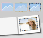 Rahmen zum kreativen Bearbeiten Ihrer Fotos