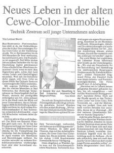 Zeitungsausschnitt 2009, Neues Leben in der alten CEWE COLOR Immobilie