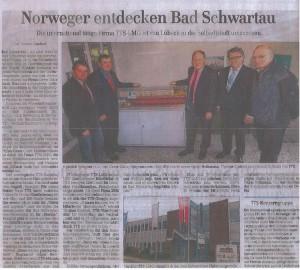 Zeitungsausschnitt 2010 - Norweger entdecken Bad Schwartau